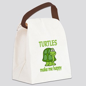 Turtle Happy Canvas Lunch Bag