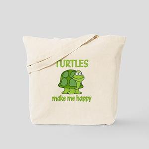 Turtle Happy Tote Bag