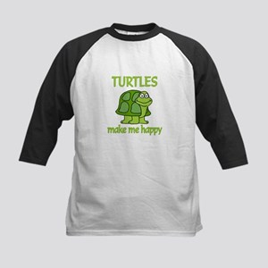 Turtle Happy Kids Baseball Jersey