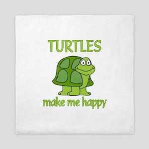 Turtle Happy Queen Duvet