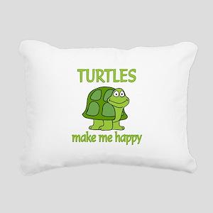 Turtle Happy Rectangular Canvas Pillow