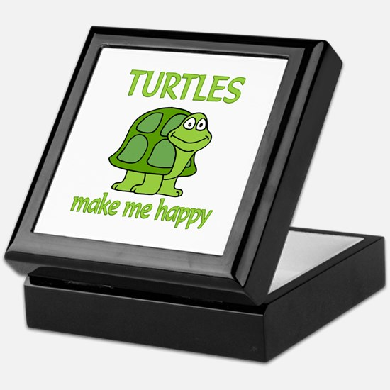 Turtle Happy Keepsake Box
