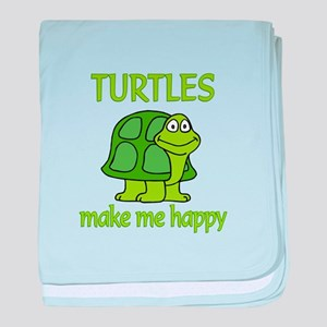 Turtle Happy baby blanket