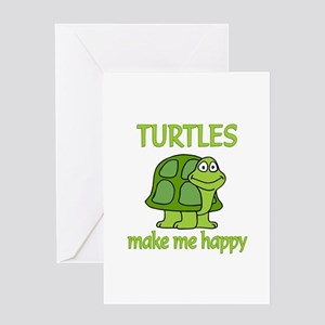 Turtle Happy Greeting Card