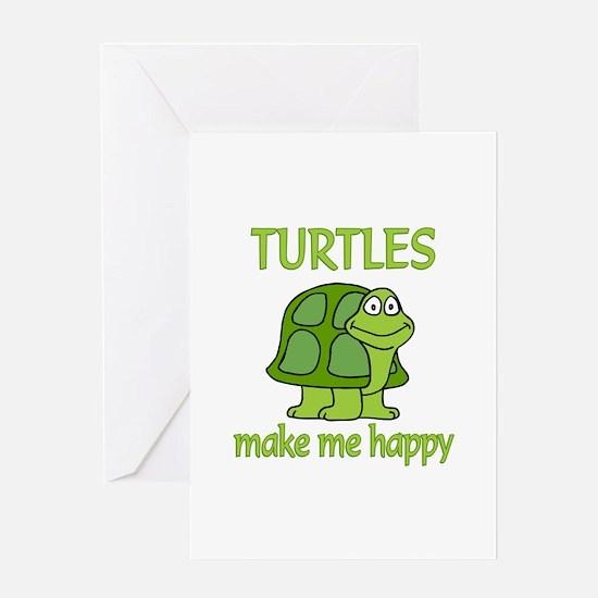 Turtle Happy Greeting Card