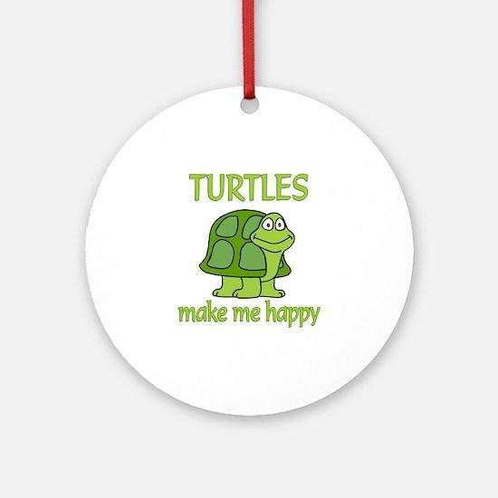 Turtle Happy Ornament (Round)