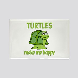 Turtle Happy Rectangle Magnet