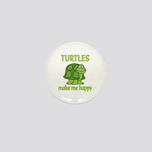 Turtle Happy Mini Button