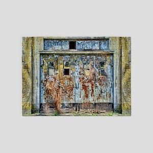 Rusty Metal Door 5'x7'Area Rug