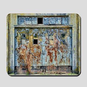 Rusty Metal Door Mousepad