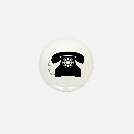 Old Style Telephone Mini Button