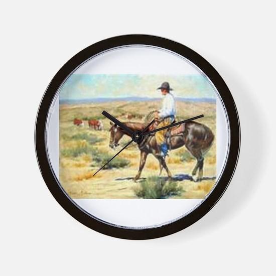 Cute Cowboy Wall Clock