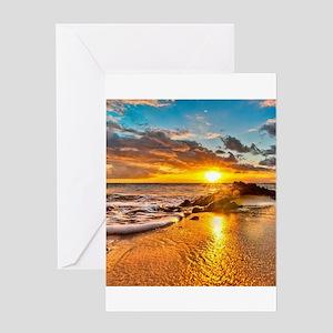 Sunrise Beach Greeting Cards