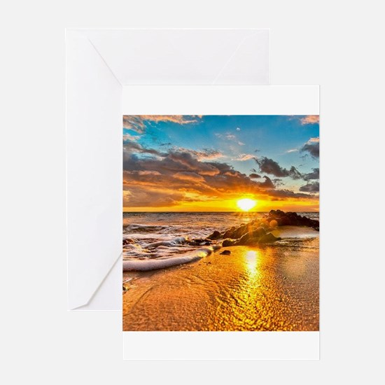 Sunrise Beach Greeting Cards
