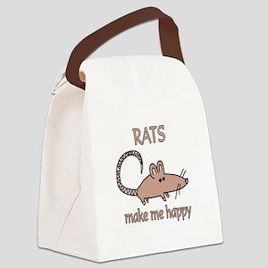 Rat Happy Canvas Lunch Bag