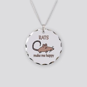 Rat Happy Necklace Circle Charm