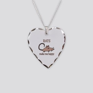 Rat Happy Necklace Heart Charm