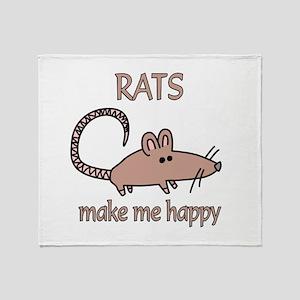 Rat Happy Throw Blanket