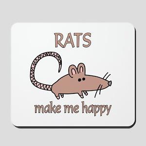 Rat Happy Mousepad