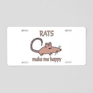 Rat Happy Aluminum License Plate