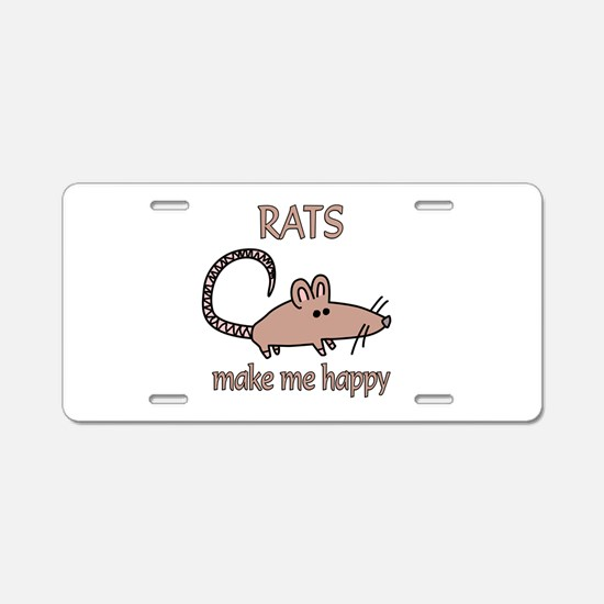 Rat Happy Aluminum License Plate