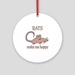 Rat Happy Ornament (Round)