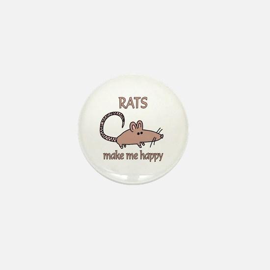 Rat Happy Mini Button (10 pack)