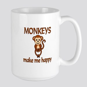 Monkey Happy Large Mug