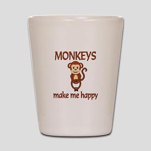 Monkey Happy Shot Glass