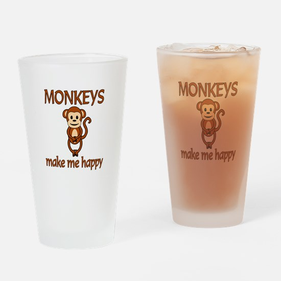 Monkey Happy Drinking Glass