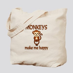 Monkey Happy Tote Bag