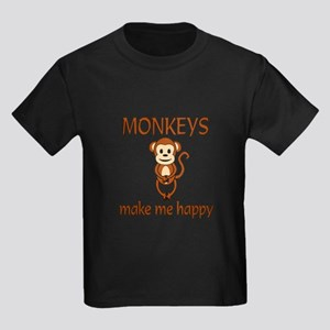Monkey Happy Kids Dark T-Shirt