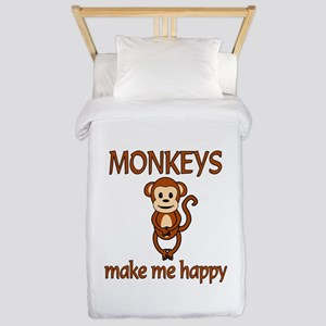 Monkey Happy Twin Duvet