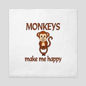 Monkey Happy Queen Duvet