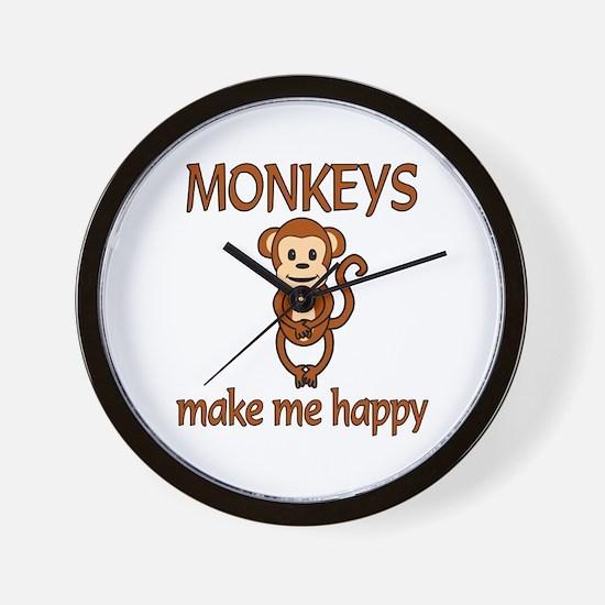 Monkey Happy Wall Clock