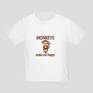 Monkey Happy Toddler T-Shirt