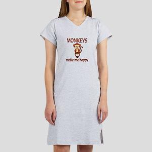 Monkey Happy Women's Nightshirt
