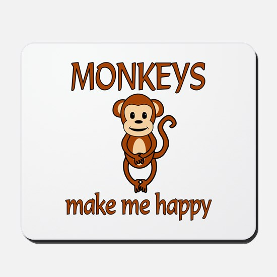 Monkey Happy Mousepad