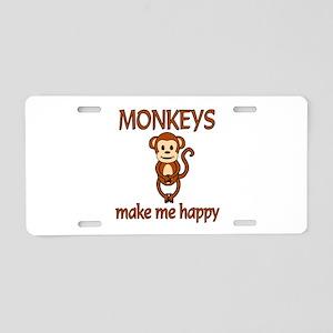 Monkey Happy Aluminum License Plate