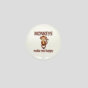 Monkey Happy Mini Button