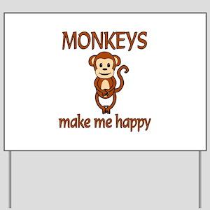 Monkey Happy Yard Sign