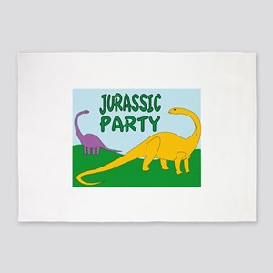 Jurassic Party 5'x7'Area Rug
