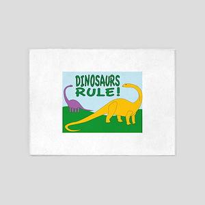 Dinosaurs Rule 5'x7'Area Rug