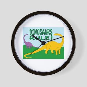 Dinosaurs Rule Wall Clock