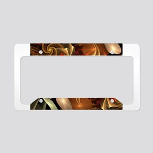 Copper Sci-Fi Abstract Art License Plate Holder