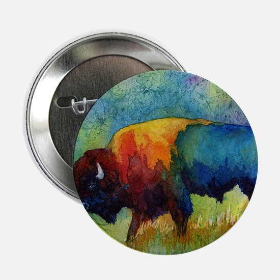 "Unique Buffalo 2.25"" Button"