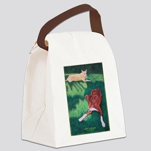 Rollin' in the Grass Canvas Lunch Bag