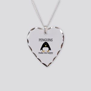 Penguin Happy Necklace Heart Charm