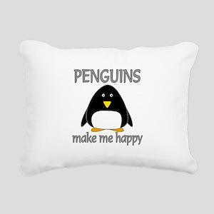 Penguin Happy Rectangular Canvas Pillow