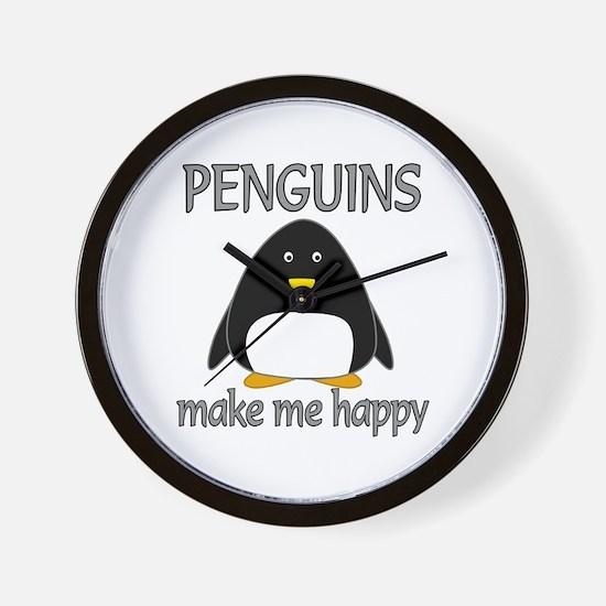 Penguin Happy Wall Clock